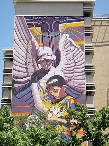 Mural on Santa Rosa Children's Hospital